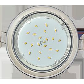 Ecola GX53 H4 9022 светильник встраив. без рефл. 2 цв. серебро-жемчуг-серебро 38х106 (к ) 1