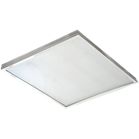 Ecola LED panel универс. (без ступеньки) панель с драйвером внутри 36W 220V 6500K Призма 595x595x19 1