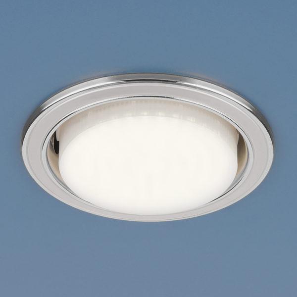 1036 GX53 WH/SL / Светильник встраиваемый белый/серебро 1