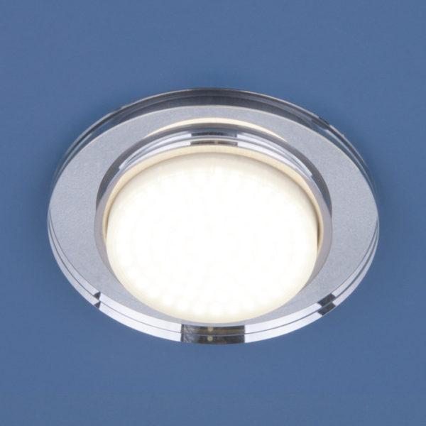 8061 GX53 SL / Светильник встраиваемый зеркальный/серебро 1