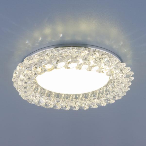 1063 GX53 / Светильник встраиваемый CH/CL  хром/прозрачный 1