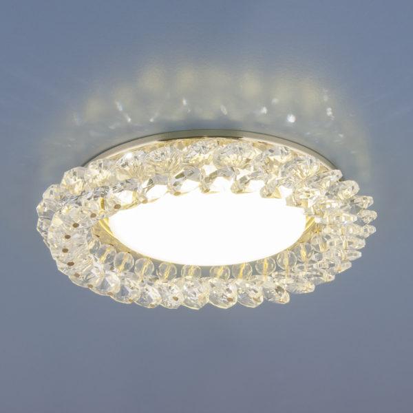 1063 GX53 / Светильник встраиваемый GD/CL золото/прозрачный 1