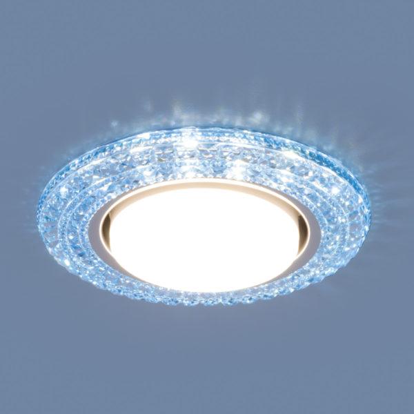 3030 GX53 / Светильник встраиваемый BL синий 1