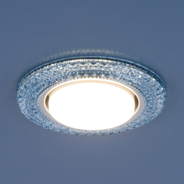 3030 GX53 / Светильник встраиваемый BL синий 3