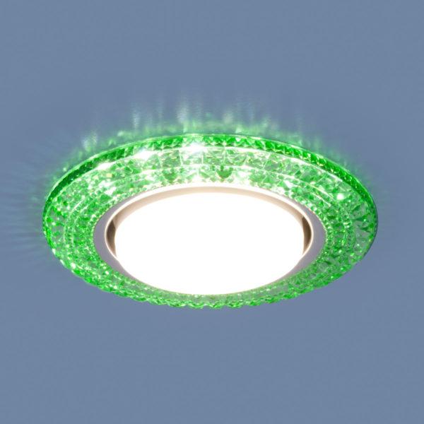 3030 GX53 / Светильник встраиваемый GR зеленый 1