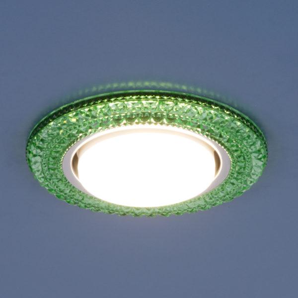 3030 GX53 / Светильник встраиваемый GR зеленый 2