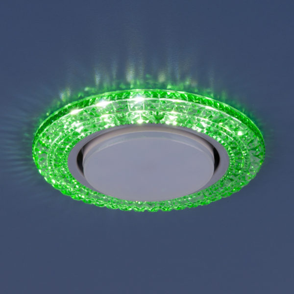 3030 GX53 / Светильник встраиваемый GR зеленый 3