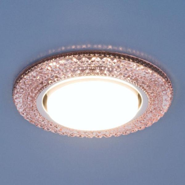 3030 GX53 / Светильник встраиваемый PK розовый 3