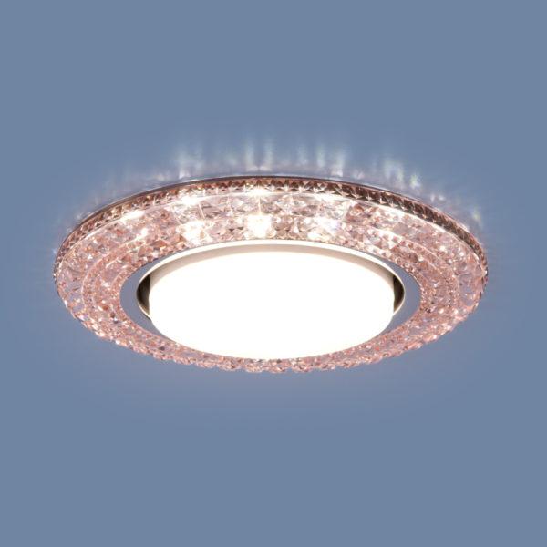 3030 GX53 / Светильник встраиваемый PK розовый 1