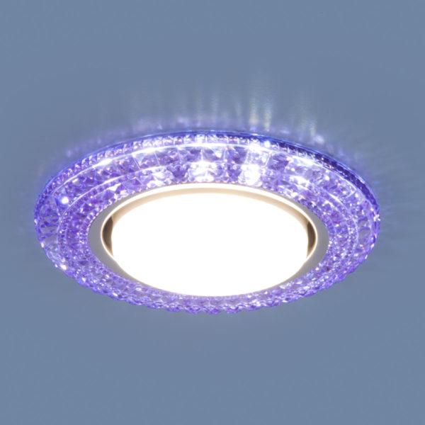 3030 GX53 / Светильник встраиваемый VL фиолетовый 1