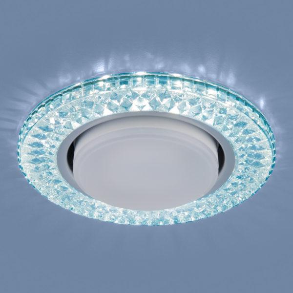 3021 GX53 / Светильник встраиваемый BL лазурный 2
