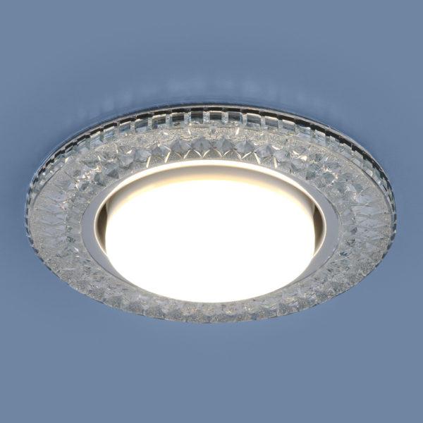 3021 GX53 / Светильник встраиваемый CL прозрачный 3
