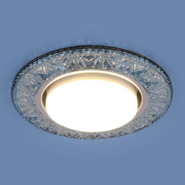 3022 GX53 / Светильник встраиваемый BL лазурный 3