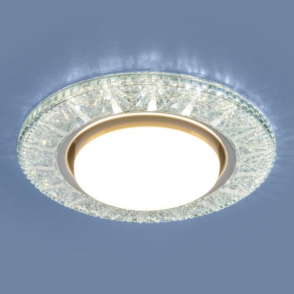 3022 GX53 / Светильник встраиваемый CL прозрачный 1