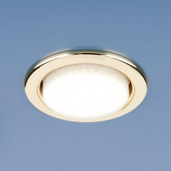 HM GX53 / Светильник встраиваемый металл золото (GL) 1