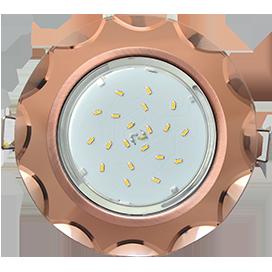 Ecola GX53 H4 5313 Glass Стекло Круг с вогнутыми гранями черненая медь - янтарь 38x126 (к ) 1