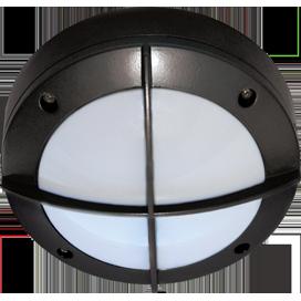 Ecola GX53 LED B4143S светильник накладной IP65 матовый Круг с решеткой алюмин. 1*GX53 Черный 145x145x65 1