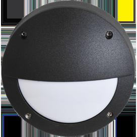 Ecola GX53 LED B4140S светильник накладной IP65 матовый Круг с ресничкой  алюмин. 1*GX53 Черный 145x145x65 1