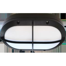 Ecola GX53 LED B4148S светильник накладной IP65 матовый Овал с решеткой алюмин. 2*GX53 Черный 215x135x65 1
