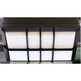 Ecola GX53 LED B4158S светильник накладной IP65 матовый Прямоугольник с решеткой алюмин. 2*GX53 Черный 215x135x65 1