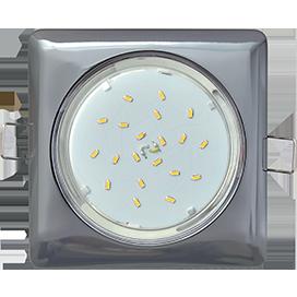 Ecola GX53 H4  Square светильник квадратный без рефл. Черный хром 107x41 (к ) 1