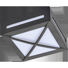 Ecola GX53 LED 3083W светильник накладной IP65 матовый Квадрат с решеткой металл. 1*GX53 Черный 136x136x55 1