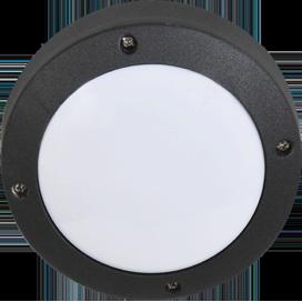 Ecola GX53 LED B4139S светильник накладной IP65 матовый Круг алюмин. 1*GX53 Черный 145x145x65 1