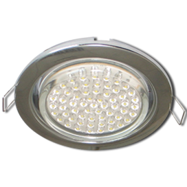 Ecola GX53 H4 Downlight without reflector_chrome (светильник) 38x106 - 10 pack (кd102) 1