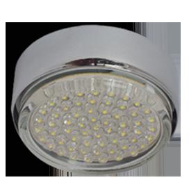 Ecola GX53 FT8073 светильник накладной хром 25x82 1