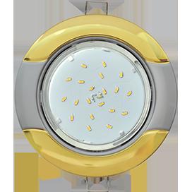 "Ecola GX53 H4 9012 светильник встраив. без рефл. ""Волна"" золото-серебро 38x116 (к ) 1"