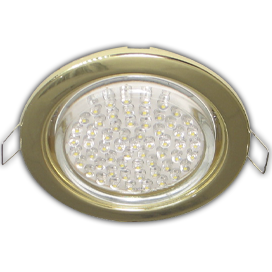 Ecola GX53 H4 Downlight without reflector_gold (светильник) 38x106 - 10 pack (кd102) 1