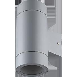 Ecola GX53 LED 8013A светильник накладной IP65 прозрачный Цилиндр металл. 2*GX53 Серый матовый 205x140x90 1