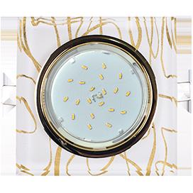 FG53SNECH Ecola GX53 H4 5311 Glass Стекло Квадрат скошенный край Золото - золото на белом 38x120x120 1