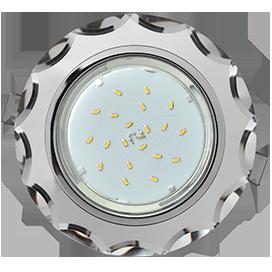 FM53RCECH Ecola GX53 H4 5313 Glass Стекло Круг с вогнутыми гранями хром - хром (зеркальный) 38x126 1