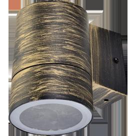 Ecola GX53 LED 8003A светильник накладной IP65 прозрачный Цилиндр металл. 1*GX53 Черненая бронза 114x140x90 1