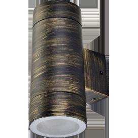 Ecola GX53 LED 8013A светильник накладной IP65 прозрачный Цилиндр металл. 2*GX53 Черненая бронза 205x140x90 1