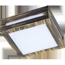 Ecola GX53 LED 3082W светильник накладной IP65 матовый Квадрат металл. 1*GX53 Черненая бронза 136x136x55 1