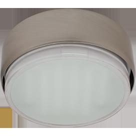 Ecola GX53 FT8073 светильник накладной сатин-хром  25x82 1