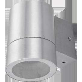Ecola GX53 LED 8003A светильник накладной IP65 прозрачный Цилиндр металл. 1*GX53 Cатин-хром 114x140x90 1