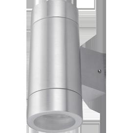 Ecola GX53 LED 8013A светильник накладной IP65 прозрачный Цилиндр металл. 2*GX53 Cатин-хром 205x140x90 1