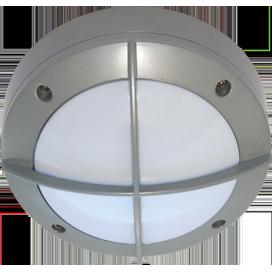 Ecola GX53 LED B4143S светильник накладной IP65 матовый Круг с решеткой алюмин. 1*GX53 Серый 145x145x65 1