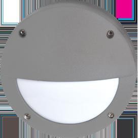 Ecola GX53 LED B4140S светильник накладной IP65 матовый Круг с ресничкой  алюмин. 1*GX53 Серый 145x145x65 1