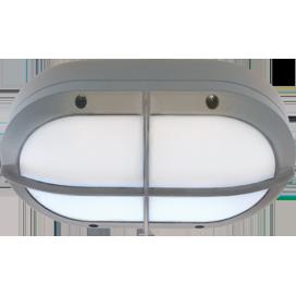Ecola GX53 LED B4148S светильник накладной IP65 матовый Овал с решеткой алюмин. 2*GX53 Серый 215x135x65 1