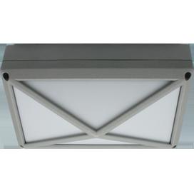 Ecola GX53 LED B4157S светильник накладной IP65 матовый Прямоугольник/Пирамида алюмин. 2*GX53 Серый 215x135x85 1