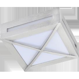 Ecola GX53 LED 3083W светильник накладной IP65 матовый Квадрат с решеткой металл. 1*GX53 Cатин-хром 136x136x55 1