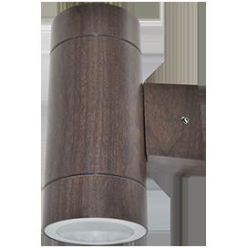 Ecola GX53 LED 8013A светильник накладной IP65 прозрачный Цилиндр металл. 2*GX53 Темное дерево 205x140x90 1