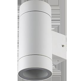 Ecola GX53 LED 8013A светильник накладной IP65 прозрачный Цилиндр металл. 2*GX53 Белый матовый 205x140x90 1