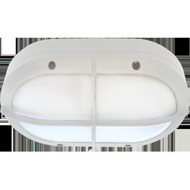 Ecola GX53 LED B4148S светильник накладной IP65 матовый Овал с решеткой алюмин. 2*GX53 Белый 215x135x65 1