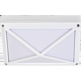 Ecola GX53 LED B4157S светильник накладной IP65 матовый Прямоугольник/Пирамида алюмин. 2*GX53 Белый 215x135x85 1