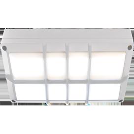 Ecola GX53 LED B4158S светильник накладной IP65 матовый Прямоугольник с решеткой алюмин. 2*GX53 Белый 215x135x65 1